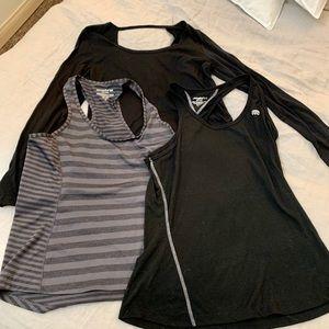Lot of 3 Marika Workout shirts
